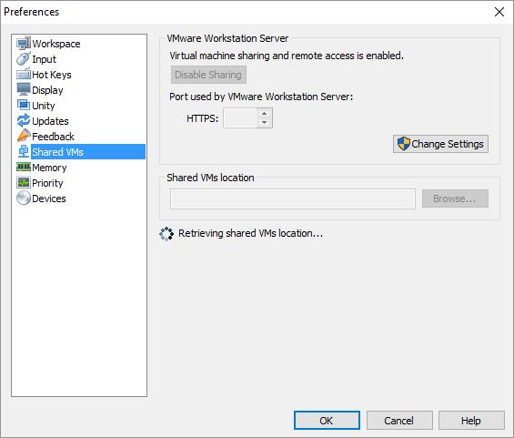 Βασικές ρυθμίσεις στο VMware Workstation 12