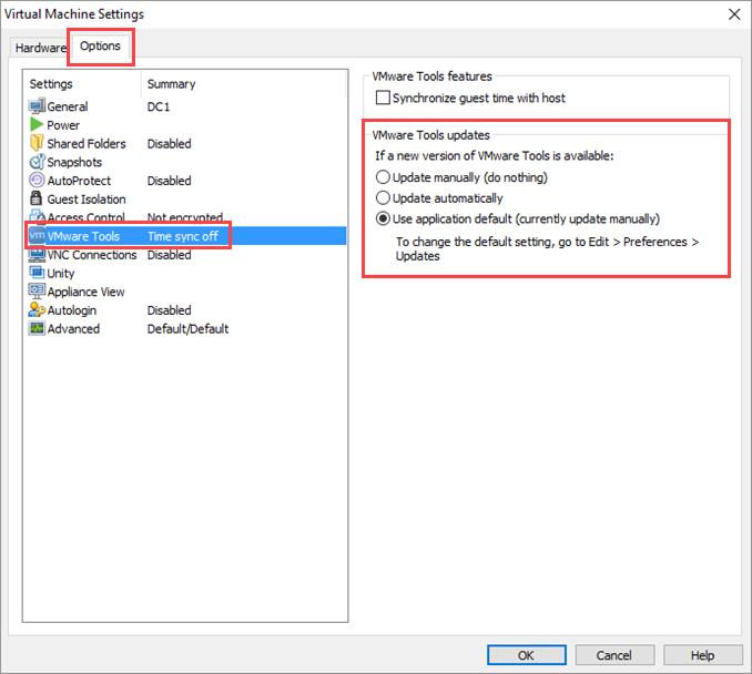 Αυτόματη αναβάθμιση των VMware Tools σε Windows VM
