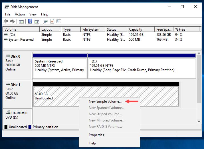 Προσθήκη νέου δίσκου σε VM στο VMware Workstation
