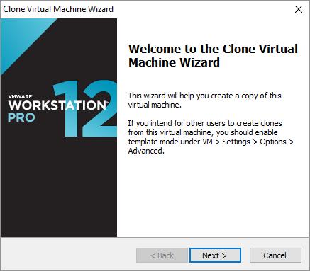 Δημιουργία VM κλώνου από template στο VMware Workstation