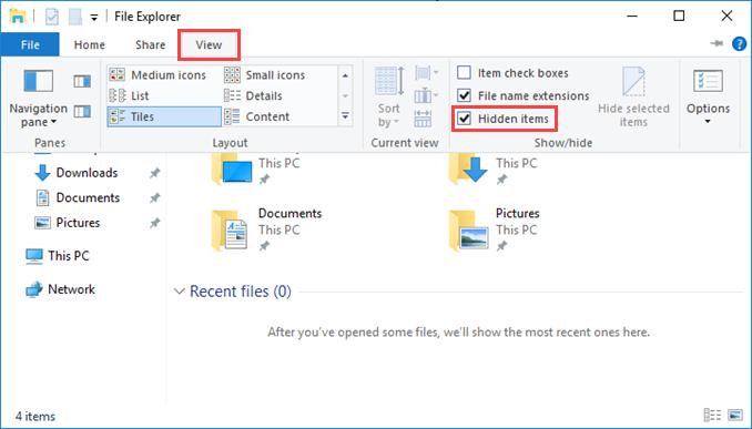 Εμφάνιση κρυφών αρχείων και φακέλων στον Windows Server 2016