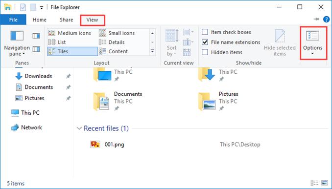 Εμφάνιση επεκτάσεων αρχείων στον Windows Server 2016