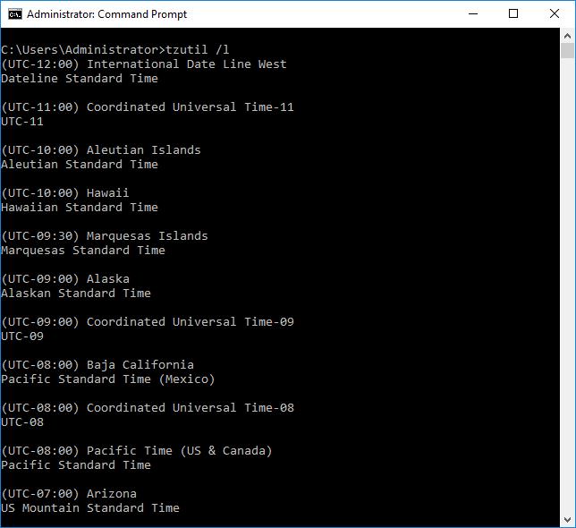 Ρύθμιση ώρας, ημερομηνίας και ζώνης ώρας στον Windows Server 2016