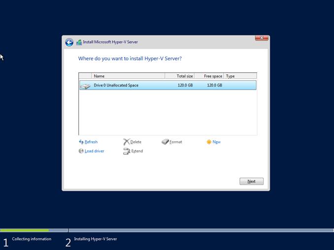 Εγκατάσταση Hyper-V Server 2016 ως Standalone Hypervisor