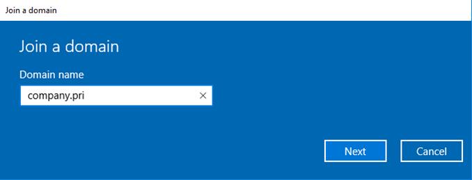 Πριν το join σε ένα Active Directory domain