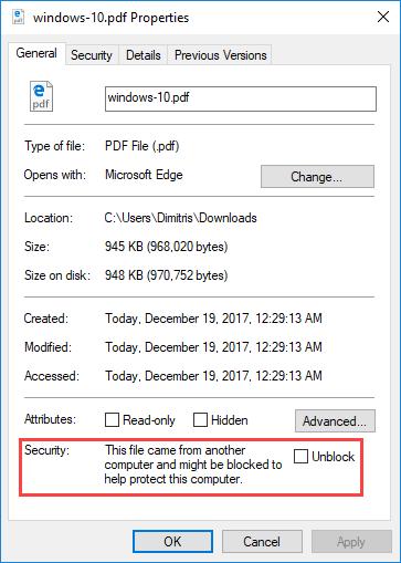 Ξε-μπλοκάρετε αρχεία από το internet με το PowerShell