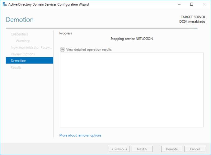 Αφαίρεση (demote) Domain Controller από το Active Directory