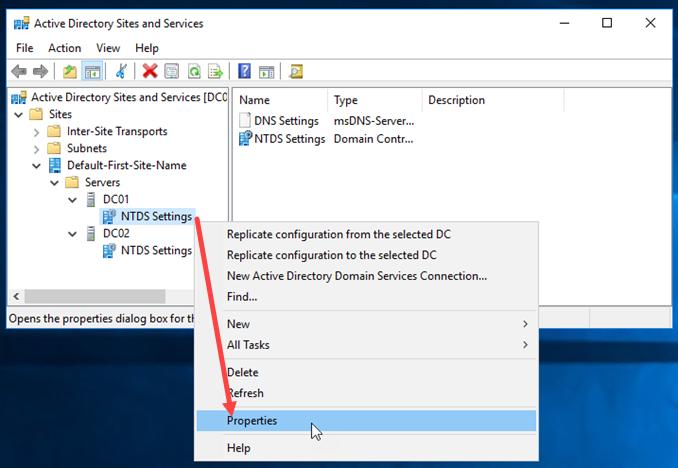 Ελέγξτε ποιοι Domain Controllers είναι και Global Catalog servers
