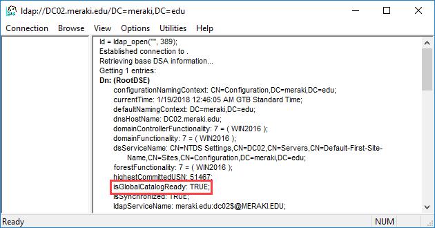 Προσθήκη και αφαίρεση ενός Global Catalog server σε έναν DC