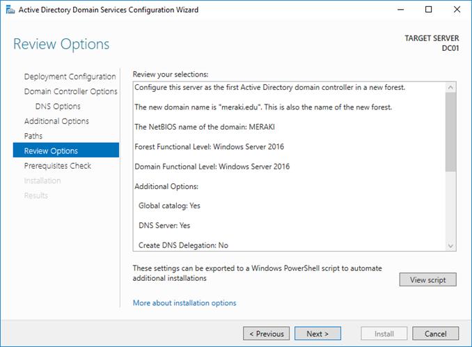 Δημιουργία νέου Active Directory στον Windows Server 2016