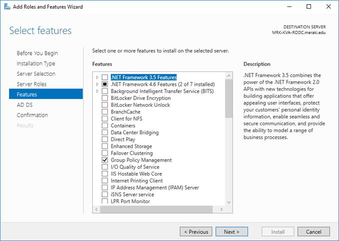 Εγκατάσταση Read-Only Domain Controller (RODC) στον Windows Server 2016