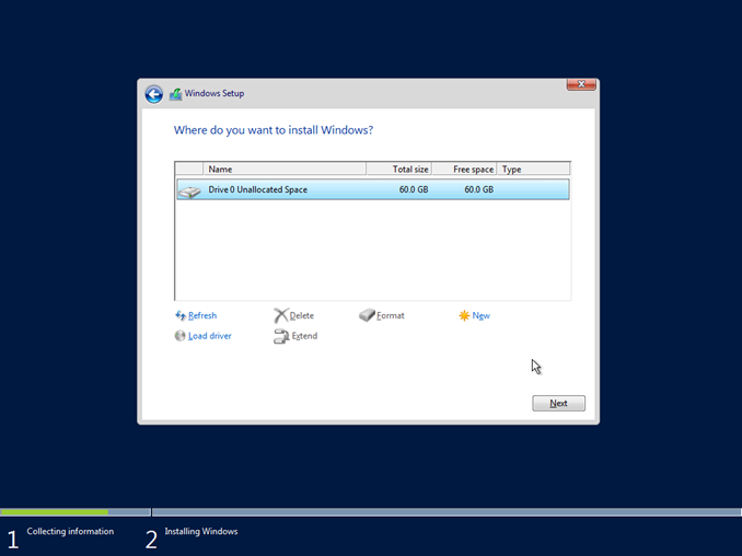 Εγκατάσταση Windows Server 2016 Core