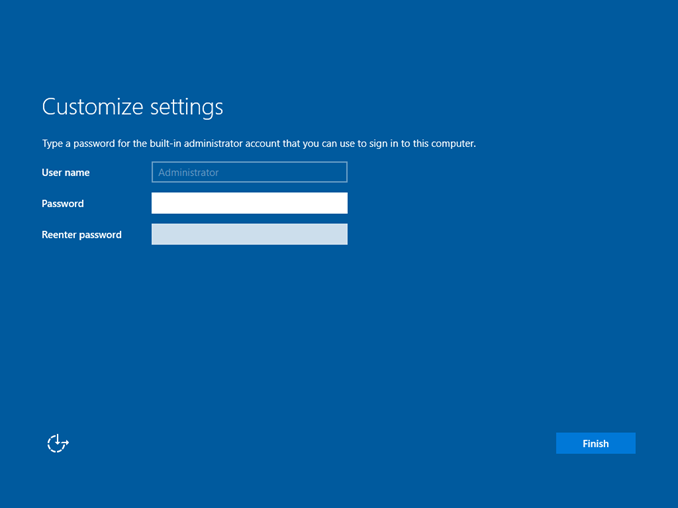 Εγκατάσταση Windows Server 2016 (GUI) Desktop Experience