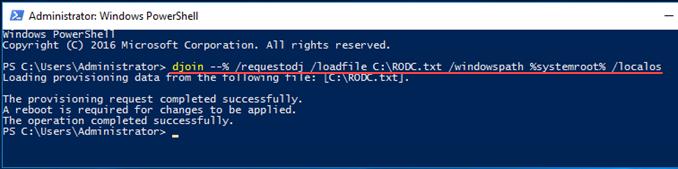 Offline domain join στο Active Directory