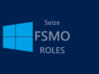 Εξαναγκαστική μεταφορά (seize) FSMO ρόλων σε Domain Controller