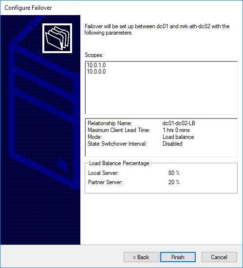Ρύθμιση DHCP Failover στον Windows Server 2016