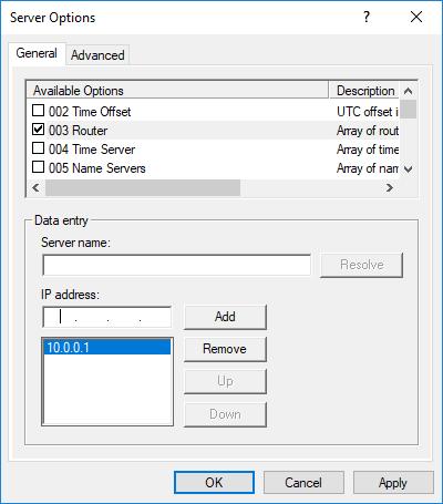 Ρύθμιση DHCP Server και Scope Options στον Windows Server 2016