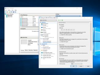 Ρύθμιση στατικής MAC διεύθυνσης σε VM στον Hyper-V Server 2016