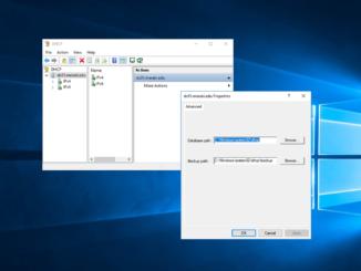 Αλλαγή φακέλου backup στον DHCP Server 2016