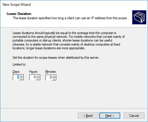 Δημιουργία νέου IPv4 Scope στον DHCP Server 2016