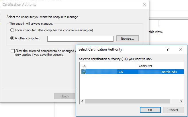 Σφάλμα Cannot manage Active Directory Certificate Services 0x424
