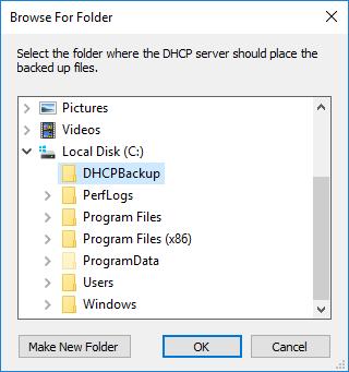 Backup και Restore DHCP Server 2016