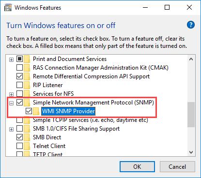 Εγκατάσταση και ρύθμιση του SNMP σε περιβάλλον Windows