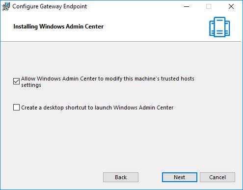 Εγκατάσταση του Windows Admin Center