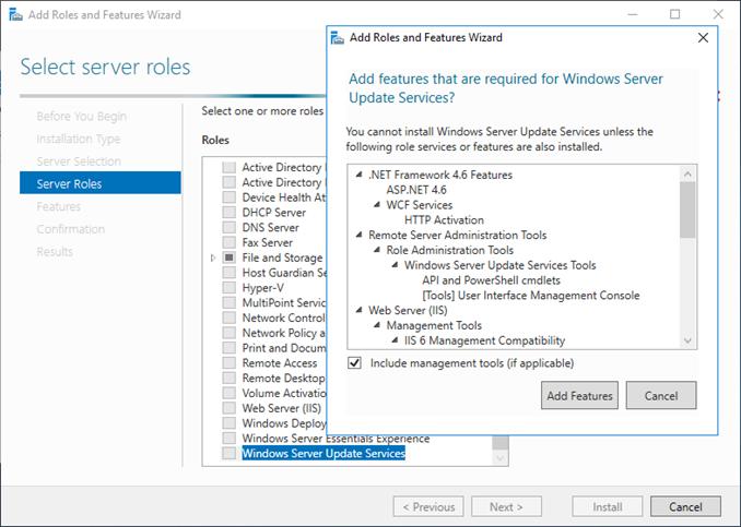 Εγκατάσταση WSUS στον Windows Server 2016
