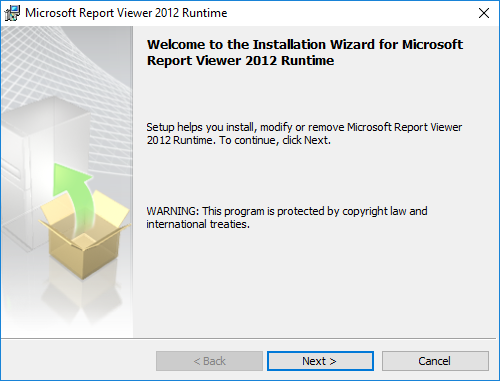 WSUS 2016, σφάλμα στο άνοιγμα του Report Viewer
